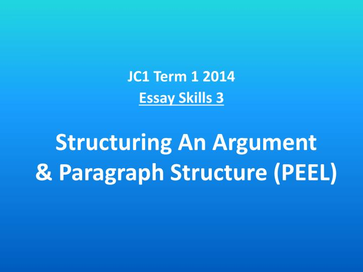 peel essay structure The peel method is a technique used to write academic or creative essays the main point of the peel writing strategy is to help a student or writer engage the target audience and let it enjoy the written piece.