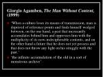 giorgio agamben the man without content 1999