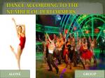 dance according to the number of performers