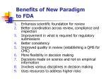 benefits of new paradigm to fda