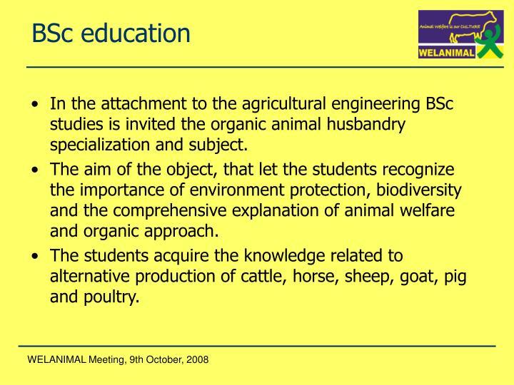 BSc education