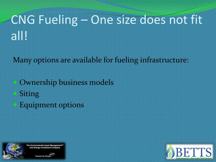 CNG Fueling – One size does not fit all!