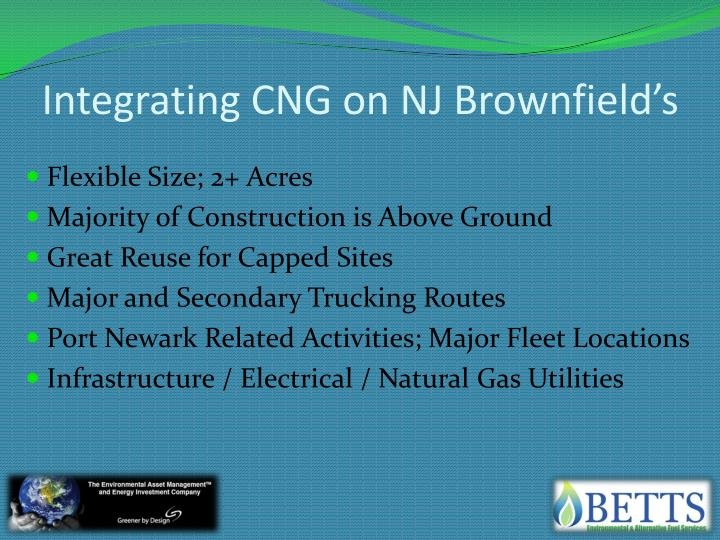 Integrating CNG on NJ Brownfield's