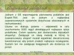 planowanie podatk w