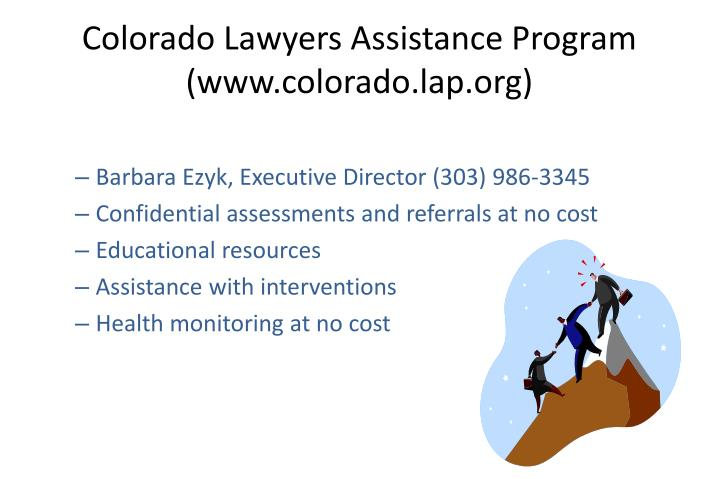 Colorado Lawyers Assistance Program