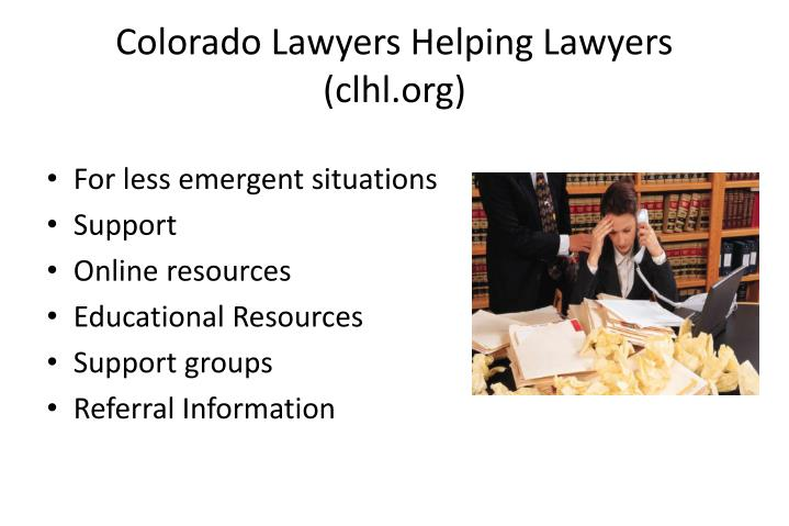 Colorado Lawyers Helping Lawyers