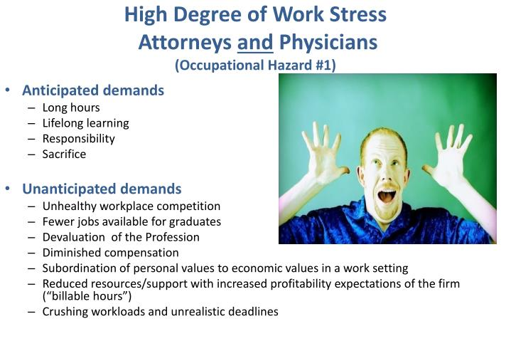 High Degree of Work Stress