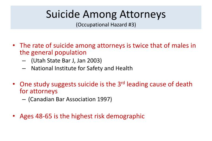 Suicide Among Attorneys