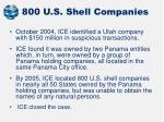 800 u s shell companies