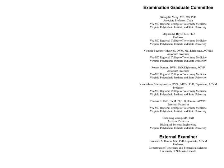 Examination Graduate Committee