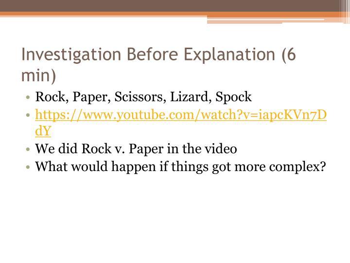 Investigation Before