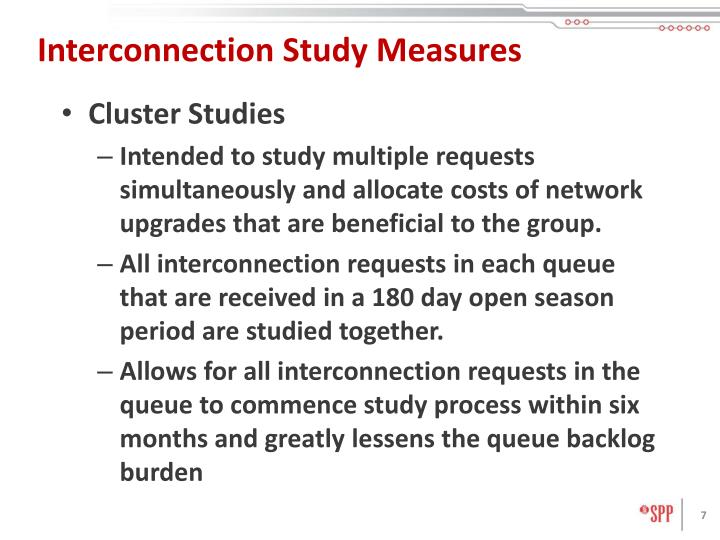 Interconnection Study Measures