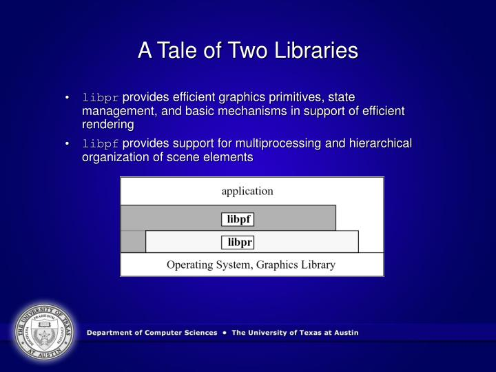 A Tale of Two Libraries