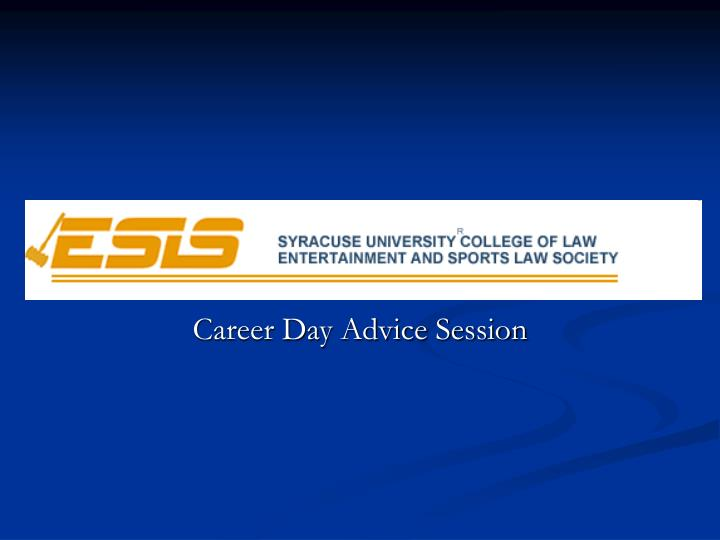 career day advice session