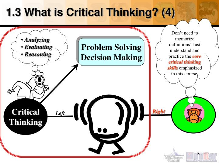 1.3 What is Critical Thinking? (4)
