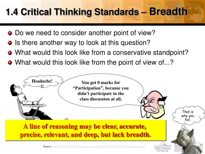 1.4 Critical Thinking Standards