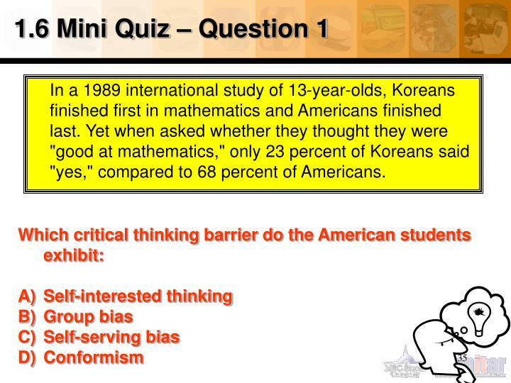 1.6 Mini Quiz – Question 1