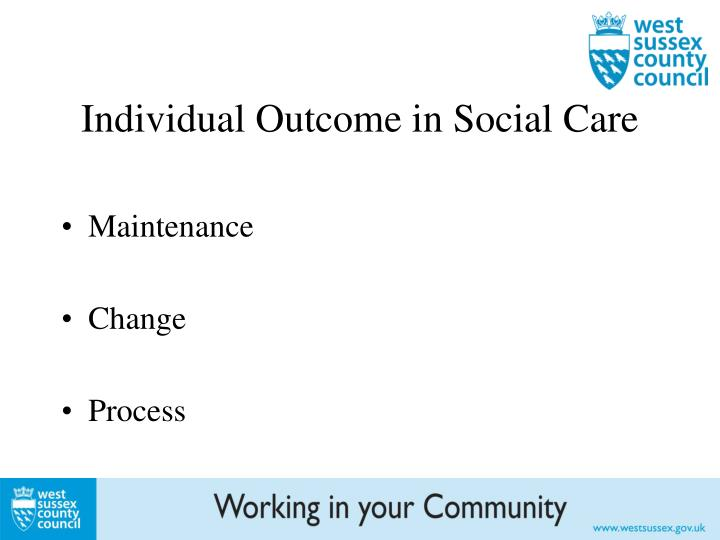Individual Outcome in Social Care
