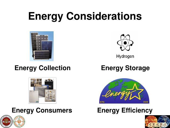 Energy Considerations