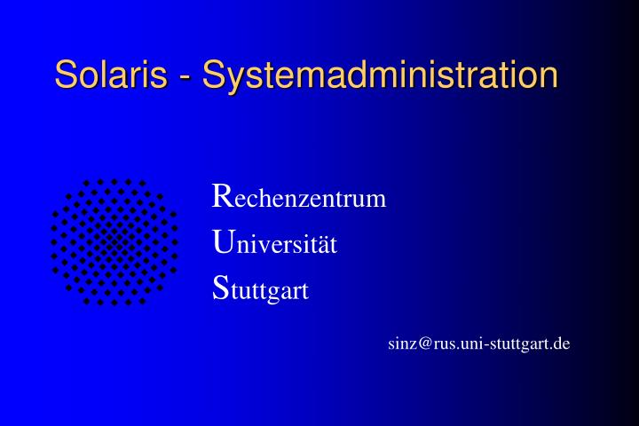 solaris systemadministration n.