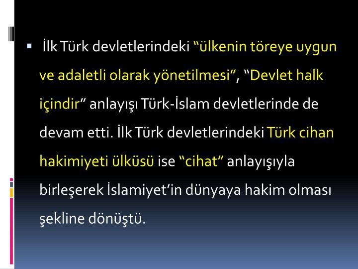İlk Türk devletlerindeki