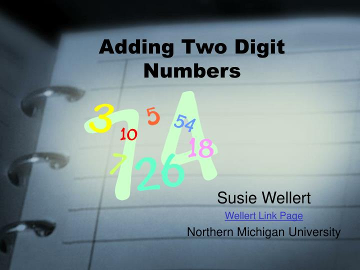 adding two digit numbers n.