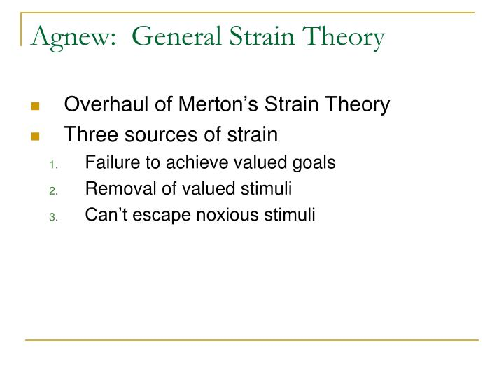 Agnew:  General Strain Theory