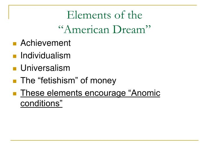 Elements of the