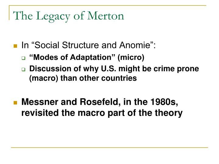 The Legacy of Merton