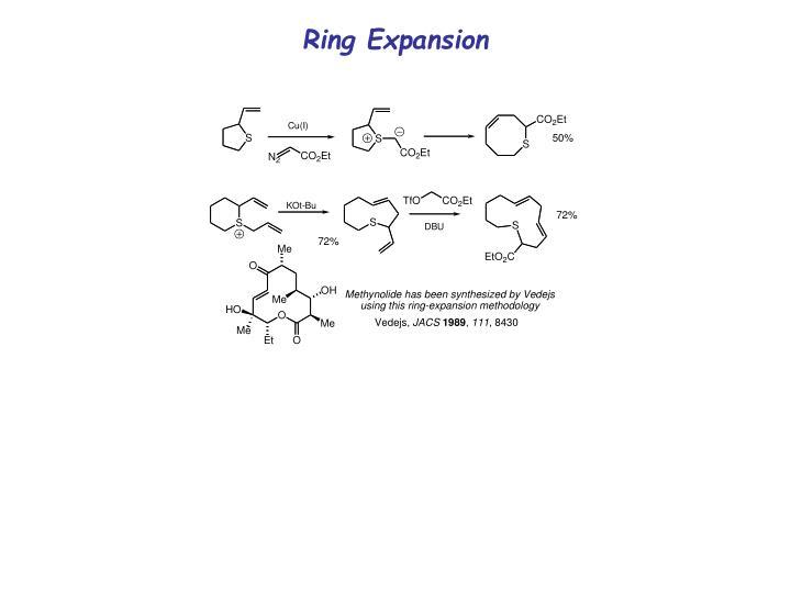 Ring Expansion