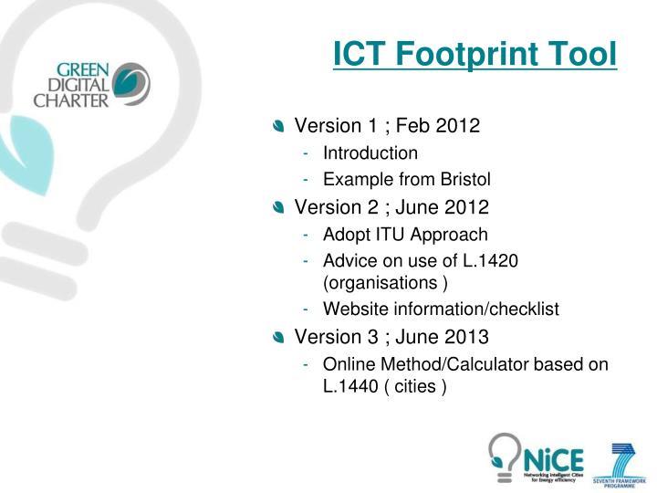 ICT Footprint Tool