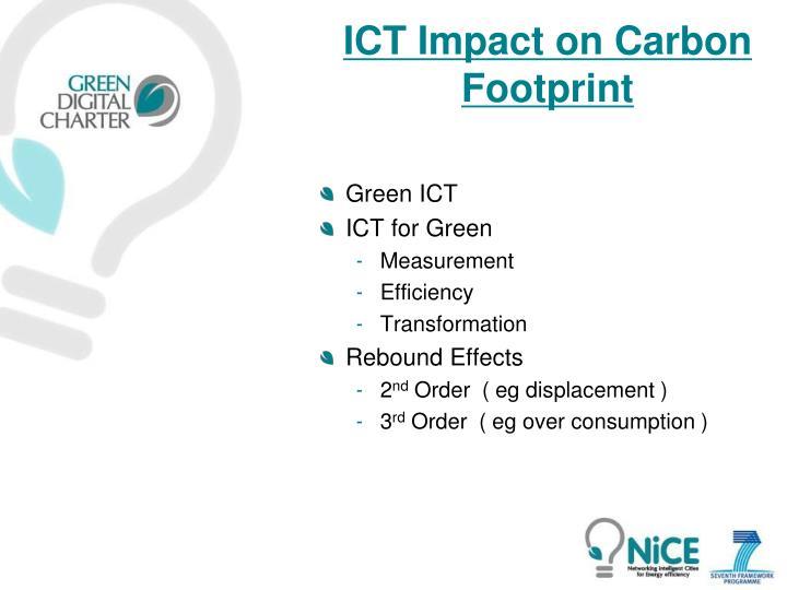 ICT Impact on Carbon Footprint