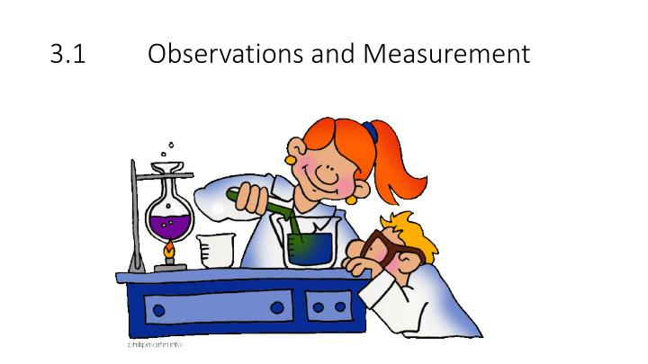 3 1 observations and measurement