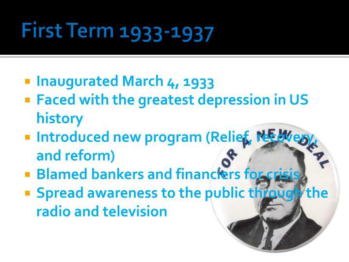 First Term 1933-1937