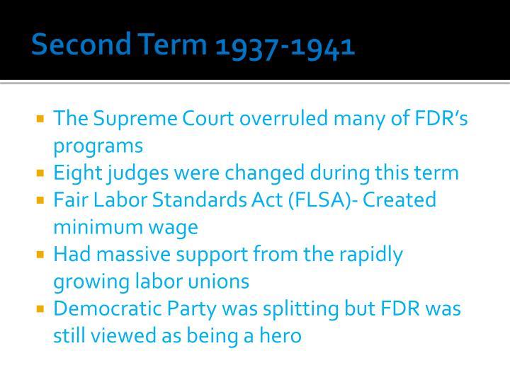 Second Term 1937-1941