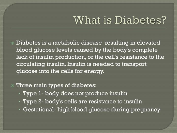 basic paper on what diabetes is This paper is going to illustrate a case study case study of diabetes mellitus and community health nurse print essential hypertension, diabetes mellitus.