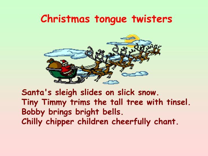 Christmas tongue twisters