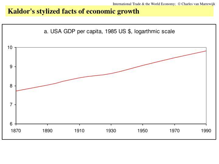 International Trade The World Economy Charles Van Marrewijk Kaldors Stylized Facts Of Economic Growth