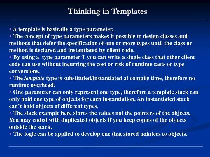 Thinking in Templates