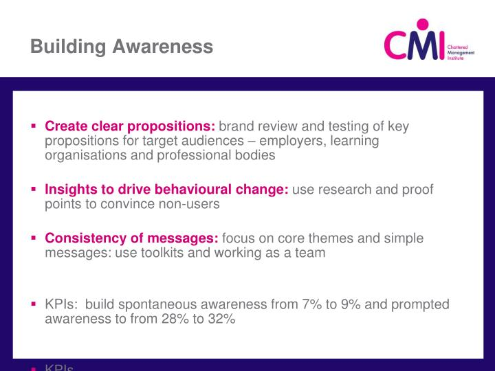 Building Awareness