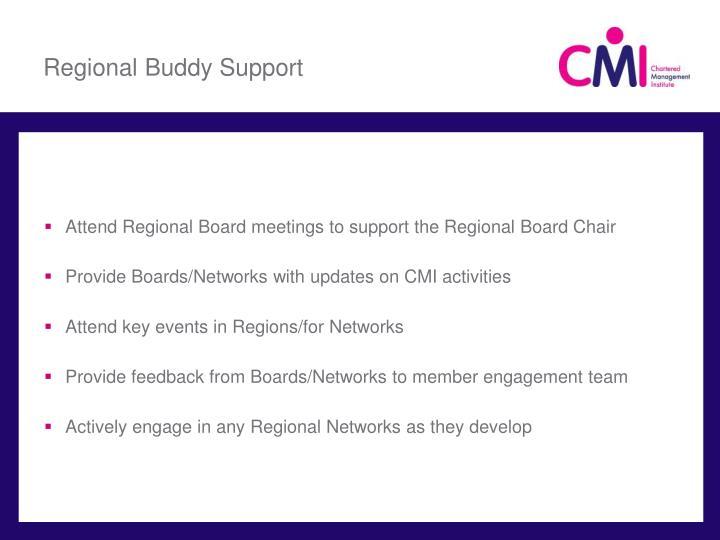 Regional Buddy Support