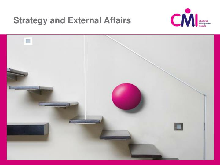 Strategy and External Affairs