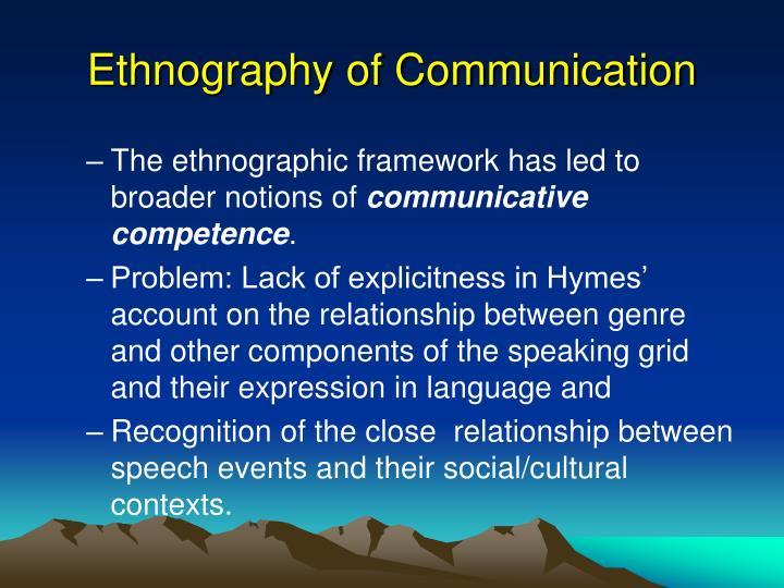 Ethnography of Communication