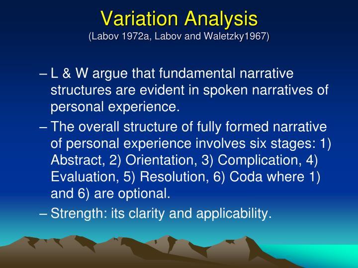 Variation Analysis