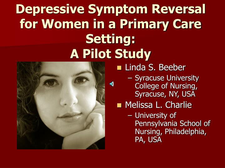 Depressive Symptom Reversal