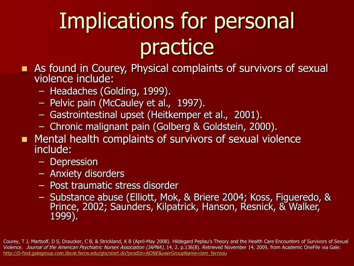 Implications for personal practice