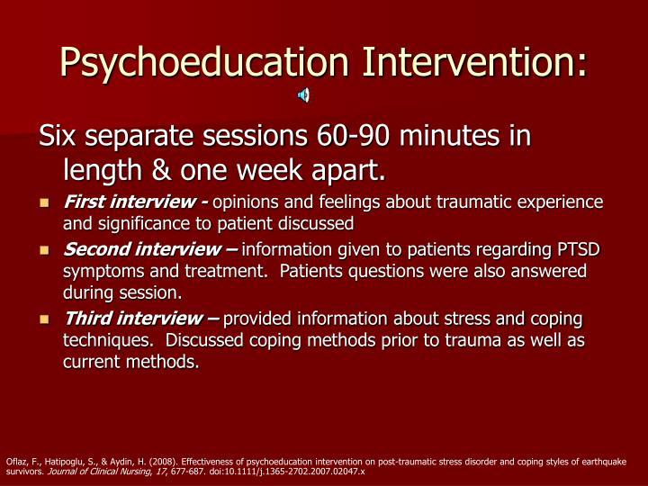 Psychoeducation Intervention: