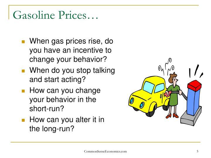 Gasoline Prices…