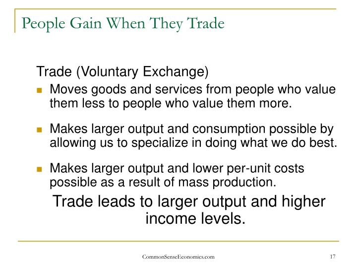 People Gain When They Trade