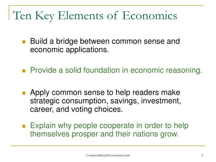 Ten key elements of economics